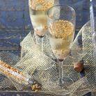 Cocktail champagne doré