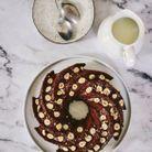 Bundt cake, cacao et noisettes