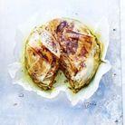 Pastilla au poulet et crème d'amandes