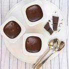 Petits pots au chocolat noir à la minute