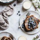 French toast au thé et à la lavande