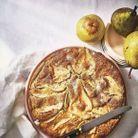 Gâteau moelleux aux poires et graines de pavot