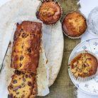 Cake aux raisins et dattes