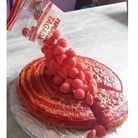 Gravity cake aux fraises Tagada