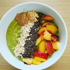 Green smoothies bowls riche en fer