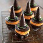 Cupcakes chapeau de sorcière