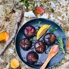 Figues rôties au romarin et au citron.