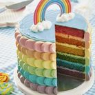 Layer cake rainbow cake