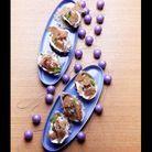 Huîtres chaudes aux galettes de sarrasin