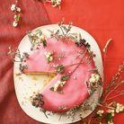 Gâteau au pamplemousse et pâte d'amande