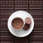 Pots de crème chocolat, sablés diamant