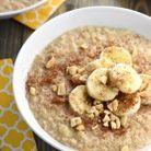 Porridge banane beurre de cacahuètes