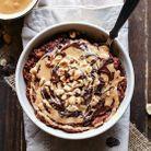 Porridge chocolat beurre de cacahuètes