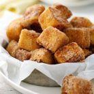 Bouchées de pain perdu à la cannelle