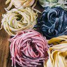 Tagliatelles colorées