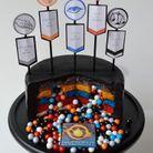 Piñata cake noir