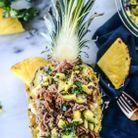 Pineapple boat porc et riz
