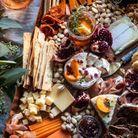 Plateau de fromage et charcuterie grand format
