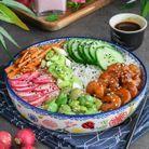 Poke bowl aux crevettes