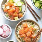 Poke bowl saumon avocat