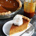 Pumpkin pie au caramel salé