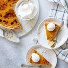 Pumpkin pie à la crème pâtissière