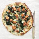 Pizza au potiron, au bleu et aux épinards de Trish Deseine