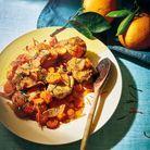 Sauté de veau aux carottes et aux oignons