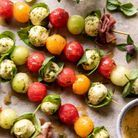 Brochettes de mozzarella et melon