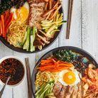 Bibimbap au kimchi et sauce Gochujang maison