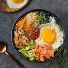 Bibimbap végétarien et sauce Gochujang maison