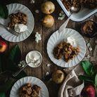 Crumble pomme poire à la farine de petit épeautre