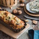Cake au bleu d'Auvergne, noix et poires