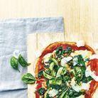Pizza poulet, mozzarella, épinards