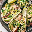 Tacos au poulet et maïs