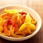 Curry de crevettes a la mangue
