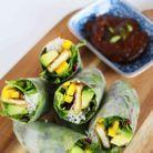 Rouleaux de printemps végétariens au tofu croustillant