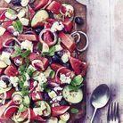 « Chopped salad » comme une salade grecque