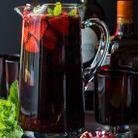 Sangria grenade fraise