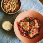 Poulet basquaise et riz cuisiné
