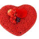 Entremets Coeur Dentelles Rouge Baiser