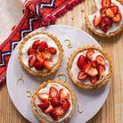 Tartelettes aux fraises vegan