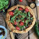 Tarte rustique courgettes, tomates, mozzarella