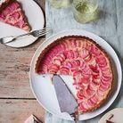Tarte à la rhubarbe et crème d'amande