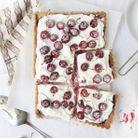 Tarte cheese-cake aux cerises