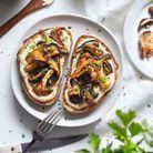 Tartines salées aux champignons