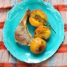 Agneau et abricots rôtis au thym