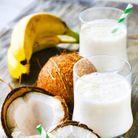 Une boisson anti-stress banane coco
