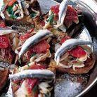 Tartines de calamars au chorizo