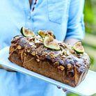 Cake aux figues, chèvre et amandes